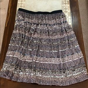 One of a kind beaded skirt